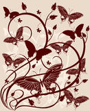 Fundo com borboleta Foto de Stock