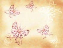 Fundo com borboletas ilustração royalty free