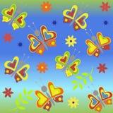 Fundo com borboletas Foto de Stock Royalty Free