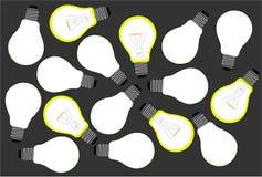 Fundo com bulbos Imagem de Stock