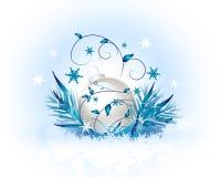 Fundo com bulbos do Natal Foto de Stock Royalty Free