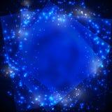 Fundo com céu estrelado Fotografia de Stock