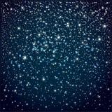 Fundo com céu noturno estrelado ilustração stock