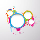 Fundo com círculo colorido do grunge Foto de Stock Royalty Free