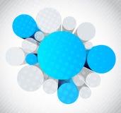 Fundo com círculos 3d Fotografia de Stock