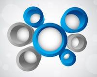 Fundo com círculos 3d Foto de Stock Royalty Free
