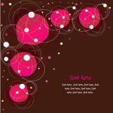 Fundo com círculos cor-de-rosa ilustração stock