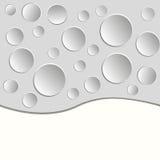 Fundo com círculos de papel no branco imagem de stock royalty free