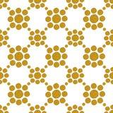 Fundo com círculos do brilho dourado, teste padrão sem emenda Foto de Stock Royalty Free