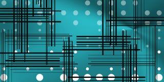 Fundo com círculos e linhas pretas Imagens de Stock