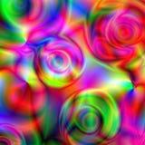 Fundo com círculos espectrais Imagens de Stock Royalty Free