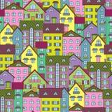 Fundo com casas coloridas Fotografia de Stock