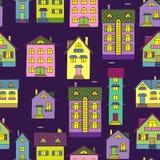 Fundo com casas coloridas Fotos de Stock