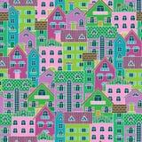 Fundo com casas coloridas Foto de Stock Royalty Free
