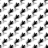 Fundo com cavaleiro em um cavalo Imagem de Stock