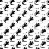 Fundo com cavaleiro em um cavalo Imagens de Stock