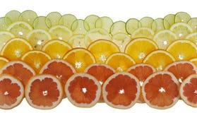 Fundo com citrinas Fotografia de Stock Royalty Free