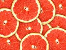 Fundo com citrinas de fatias da pamplumossa Imagens de Stock