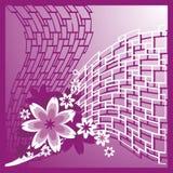 Fundo com composição floral Fotografia de Stock