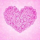 Fundo com coração floral ilustração stock