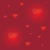 Fundo com corações Imagem de Stock