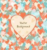 Fundo com corações ilustração do vetor