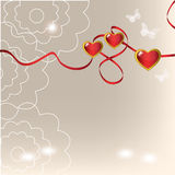 Fundo com corações Foto de Stock