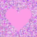 Fundo com corações. Fotografia de Stock Royalty Free