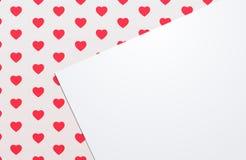 Fundo com corações Fotografia de Stock