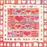 Fundo com corações Fotografia de Stock Royalty Free