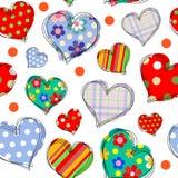 Fundo com corações 1 Imagens de Stock