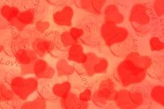 Fundo com corações para o dia do Valentim Imagem de Stock