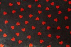 Fundo com corações vermelhos Fotografia de Stock