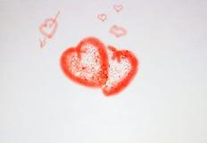 Fundo com corações vermelhos Fotos de Stock Royalty Free