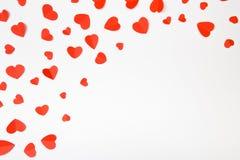 Fundo com corações vermelhos, vista superior do dia de são valentim - imagem fotos de stock royalty free
