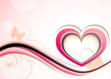 Fundo com coração Foto de Stock Royalty Free