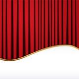 Fundo com a cortina vermelha de veludo Imagens de Stock Royalty Free