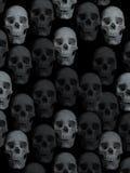 Fundo com crânios Imagens de Stock Royalty Free