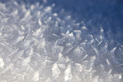 Fundo com cristais de gelo Imagens de Stock
