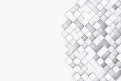 Fundo com cubos abstratos ilustração 3D Foto de Stock Royalty Free