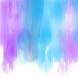 Fundo com cursos pintados watercolour da escova Foto de Stock Royalty Free