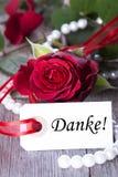 Fundo com Danke Fotografia de Stock Royalty Free