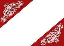 Fundo com decoração floral Fotos de Stock Royalty Free