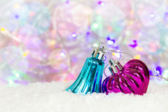 Fundo com decorações do Natal, lugar para o texto Imagens de Stock
