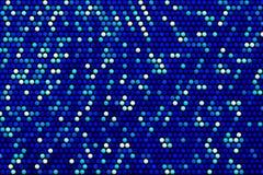 Fundo com efeito branco e azul aleatório das esferas Imagens de Stock