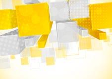 Fundo com elemento 3d Imagens de Stock