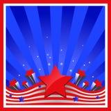 Fundo com elementos da bandeira dos EUA imagem de stock royalty free