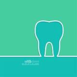 Fundo com esboço do dente Fotografia de Stock