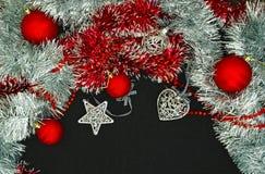 Fundo com esferas do Natal Fotografia de Stock Royalty Free