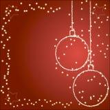 Fundo com esferas do Natal Imagem de Stock Royalty Free